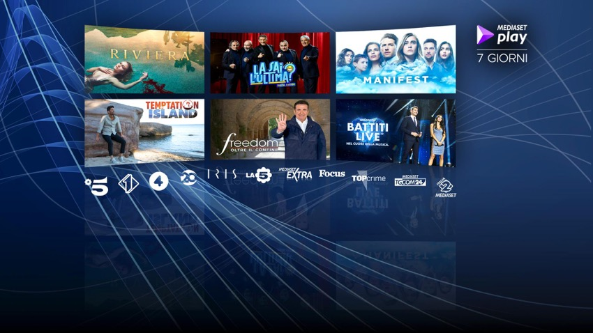 Mediaset Play sbarca on demand su Sky Q