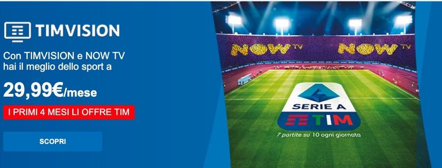 TimVision e Now Tv di Sky: ecco l'offerta con 4 mesi gratis