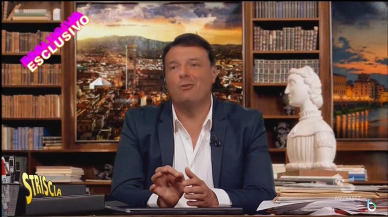 Striscia la notizia e il falso fuori onda di Matteo Renzi che critica Conte: si chiama deepfake