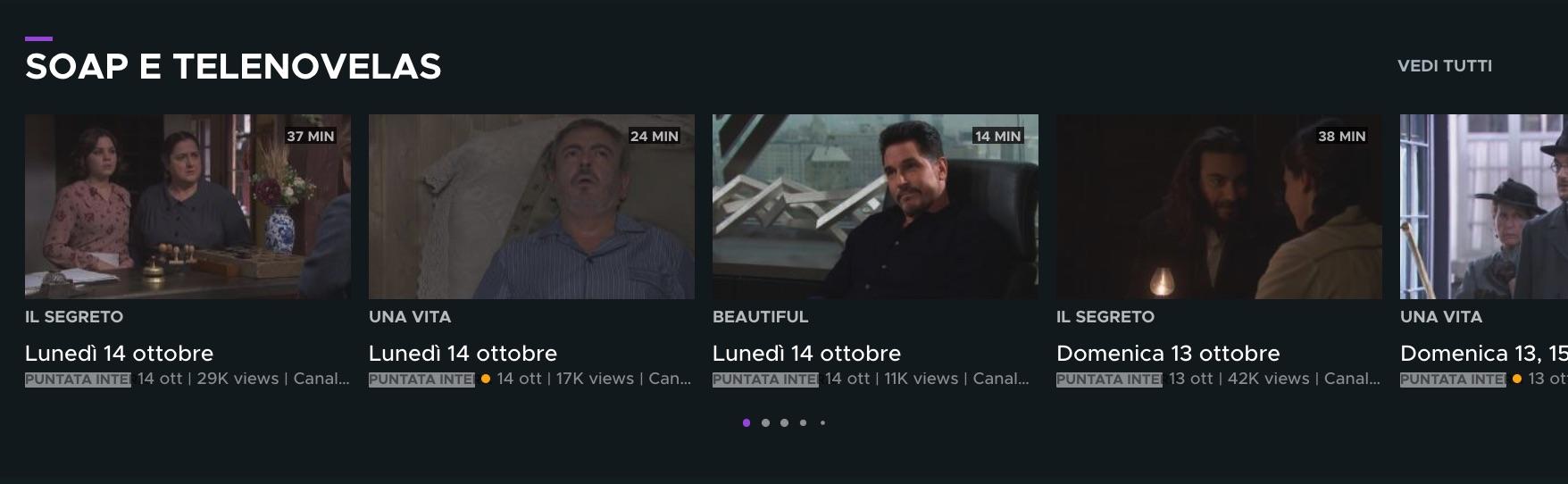 Beautiful, Una Vita e Il Segreto: anche on demand su Sky nella sezione Mediaset Play