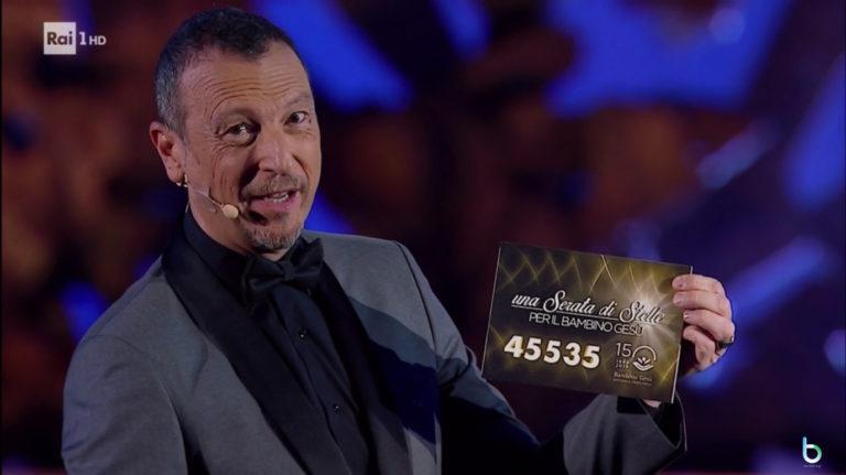 Ascolti tv 20 novembre: Amadeus vince la prima serata, sempre male Oltre la soglia