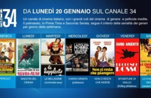 Cine34, a gennaio il nuovo canale Mediaset dedicato al cinema italiano