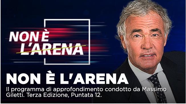 Bruno Vespa, Gianluigi Paragone, Peter Gomez ospiti a Non é l'Arena con Massimo Giletti