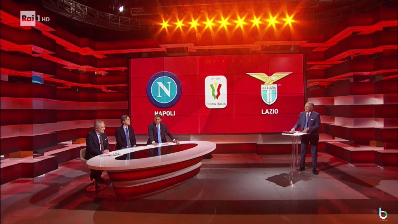 Ascolti tv 21 gennaio: prima serata per Napoli-Lazio