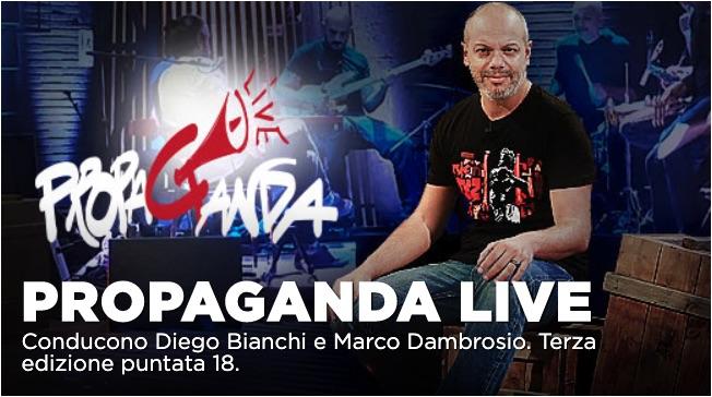 Carlo Lucarelli tra gli ospiti di Propaganda Live del 31 gennaio