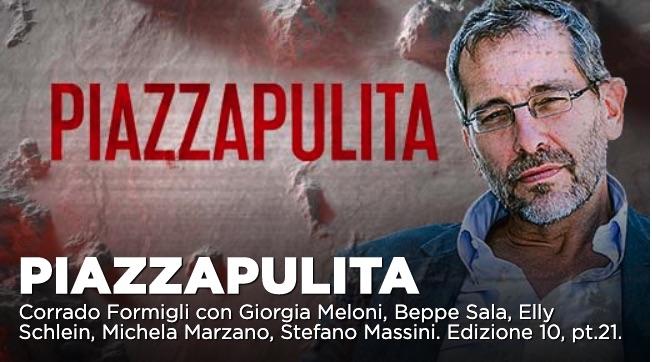 Giorgia Meloni, Beppe Sala, Elly Schlein ospiti a Piazzapulita 20 febbraio