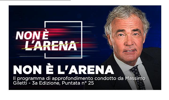 Flavio Briatore e il sindaco di Messina a Non é l'Arena su La7
