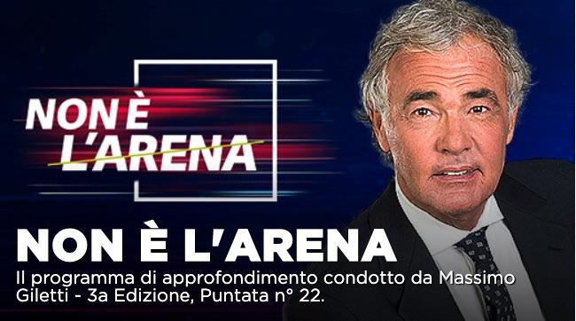 Non é l'Arena, il caso Epstein e aggiornamenti coronavirus su La7