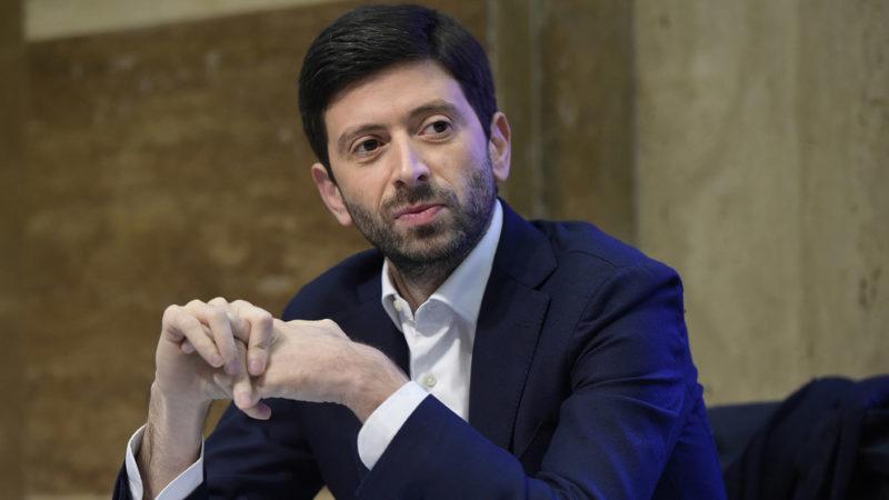 Il Ministro Roberto Speranza, il virologo Burioni a Che tempo che fa Rai due