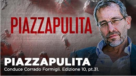 Massimo Cacciari, Pier Luigi Bersani tra gli ospiti di Piazzapulita su La7