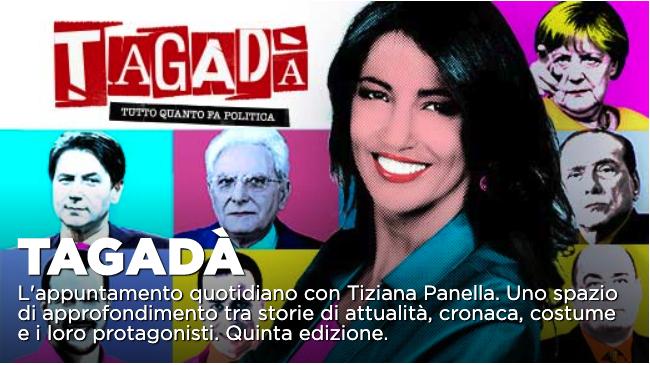 Tagada', ospiti Paola Turci e Marco Damilano nel pomeriggio di La7
