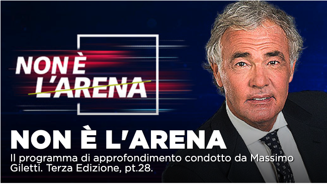 Ospiti Non è l'Arena oggi domenica 3 maggio: c'è Giorgia Meloni