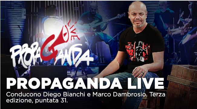 Corrado Guzzanti tra gli ospiti di Propaganda Live dell'8 maggio