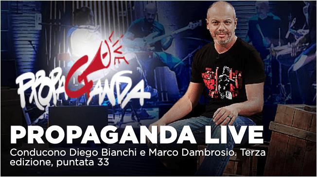 Ben Harper e Zerocalcare a Propaganda Live 29 maggio su La7