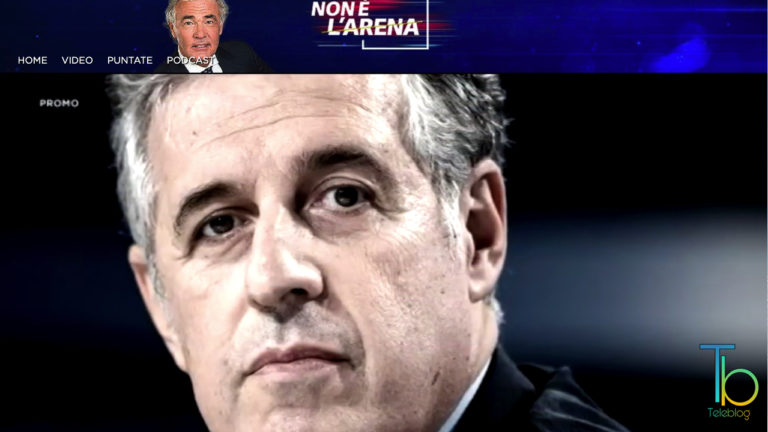Caos giustizia, il pm Nino Di Matteo a Non é l'Arena con Giletti su La7