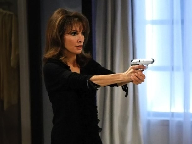 Susan Lucci nei panni di Erica Kane in azione