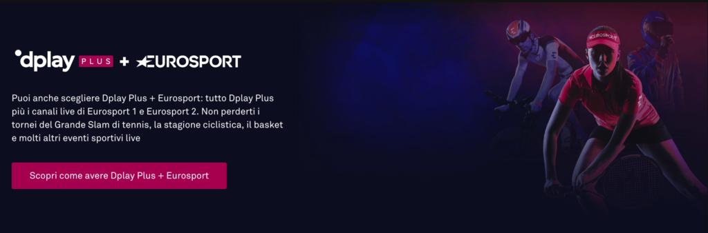 Canali Eurosport su DPLAY Plus