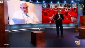 """Fuori i mercanti dal Tempio"", Atlantide racconta Papa Francesco su La7"
