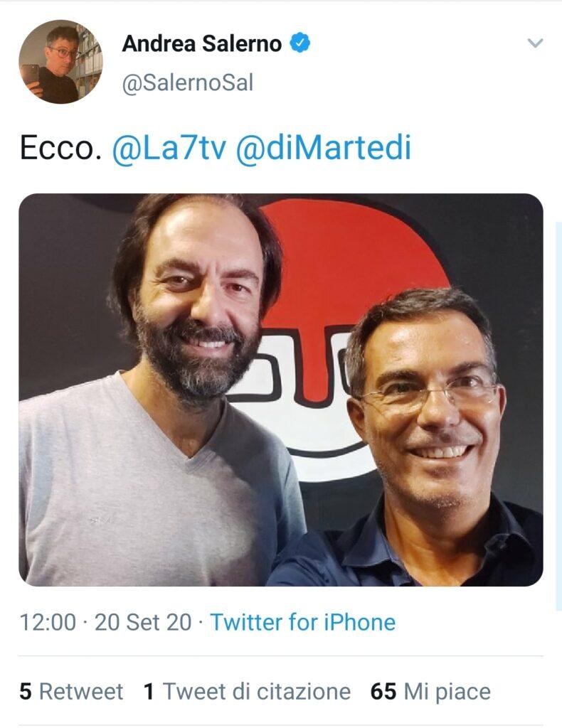 Neri Marcorè a diMartedi con Floris