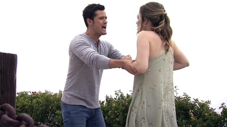 Beautiful, Brooke spinge Thomas giù dalla scogliera