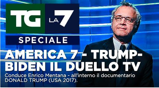 America 7, speciale presidenziali USA con Enrico Mentana su La7