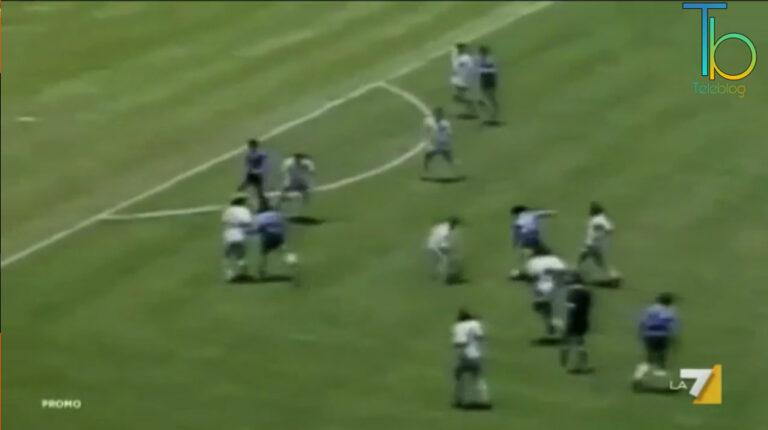 Argentina – Inghilterra Mondiali del 1986: La7 omaggia Maradona
