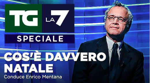 """Speciale Tg La7: """"Cos'é davvero natale"""" con Enrico Mentana"""