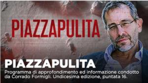 La crisi politica, situazione vaccini a Piazzapulita su La7