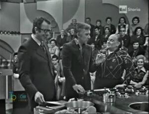 A tavola alle 7, Ave Ninchi e Luigi Veronelli negli anni 70 nello storico programma di cucina