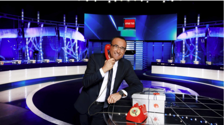 Ascolti tv 6 febbraio: boom C'é posta per te, chiude stabile Affari tuoi