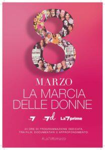 La marcia delle donne, la speciale programmazione su La7 e La7d