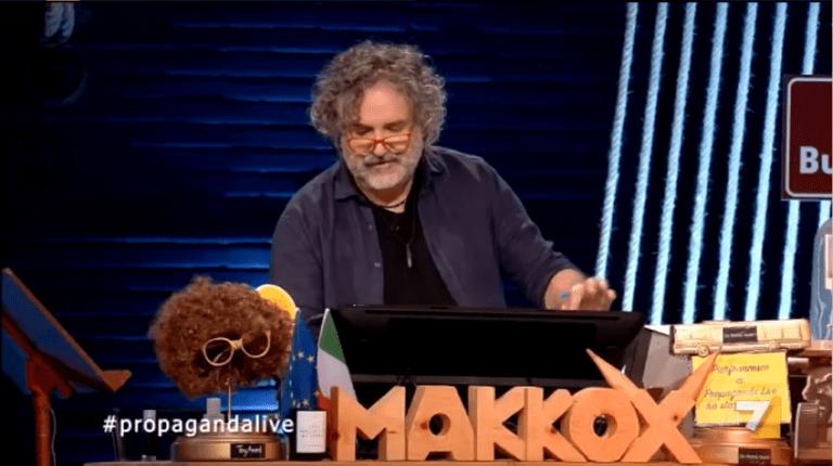 Andrea Pennacchi, Antonella Attili, Giorgio Mastrota a Propaganda Live su La7