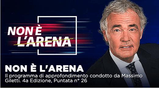 Piano pandemico, Concorsopoli Lazio e vaccinazioni a Non é l'Arena su La7