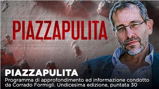 Piazzapulita, si parlerà di giustizia e gestione pandemia su La7
