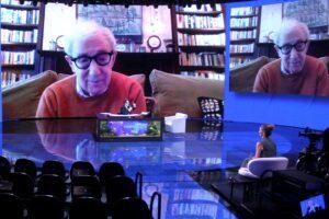 """Woody Allen a Che tempo che fa """"la tv non la guardo, vado a letto presto"""""""
